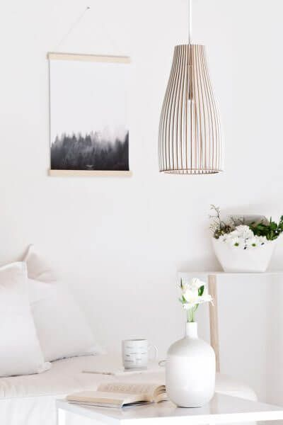 The Ena Lamp from IUMI is a brilliant reimagining of a classic pendant lighting design. Seen here in a classic interior setting.