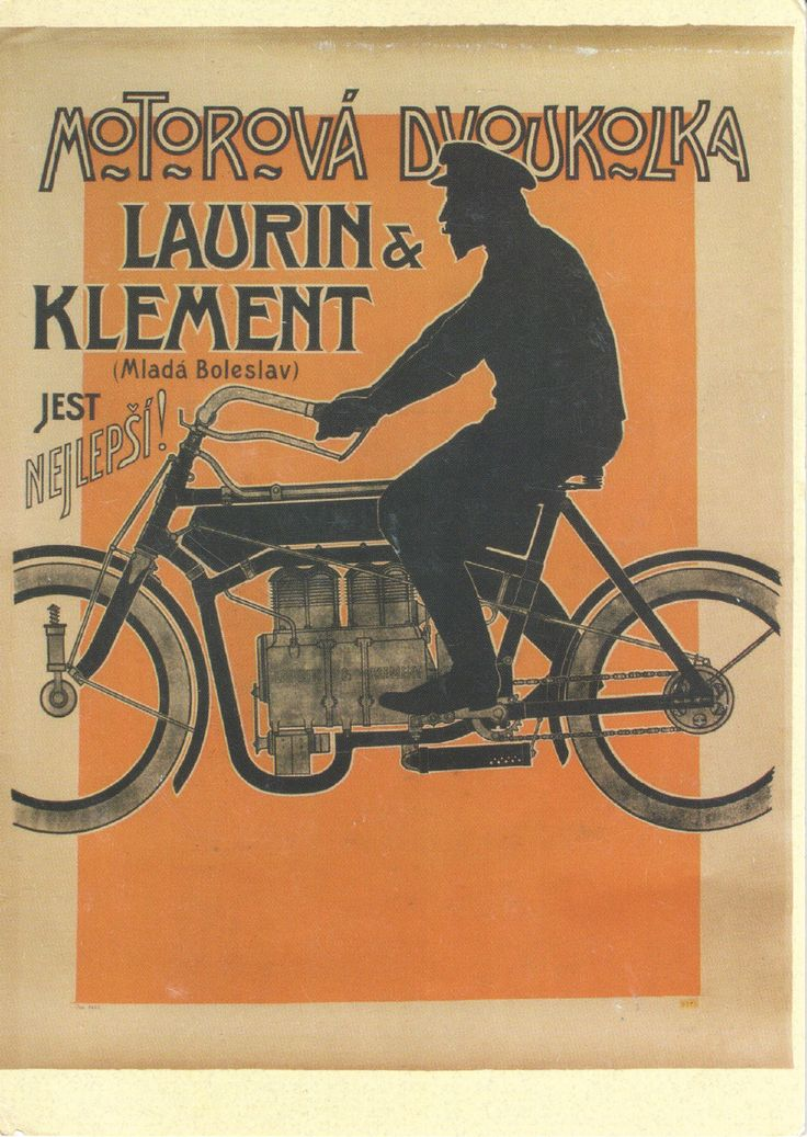 Postcard From Czech Republic to Turkey - Laurin & Klement Motorcycles / Skoda
