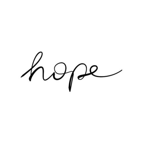 Hope is all I need when it's all I have!❤️