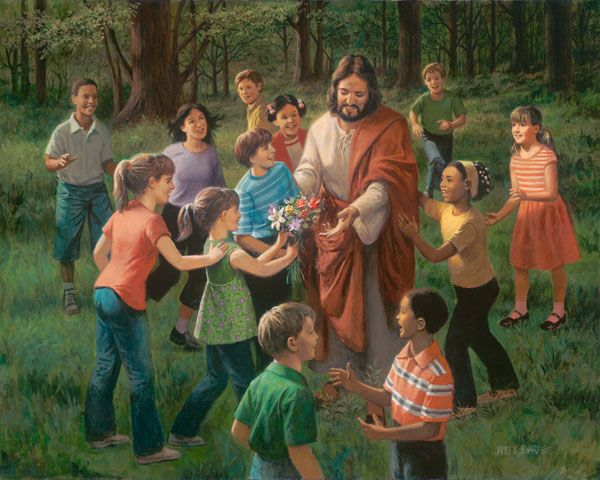 ~ Rejoice in the Lord - children with Jesus by Christian artist James Seward