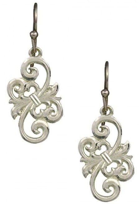(MSER2372) Western Petite Barbed Wire Bow Earrings