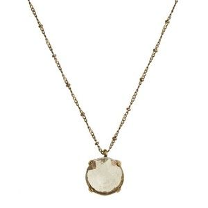 MID LENGTH GOLD NECKLACE - glass, metal, alloy, lead, nickel, cadmium, free, ... - Four Corners | Online Boutique Fashion Jewellery