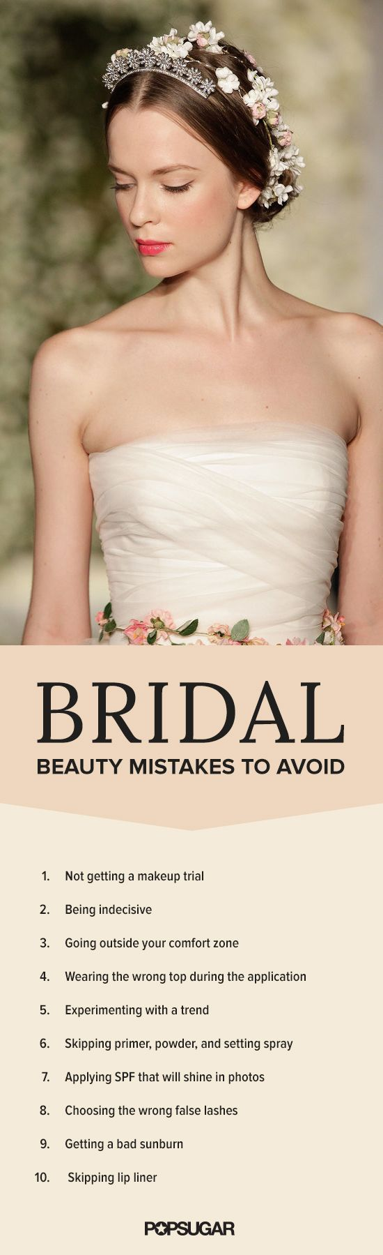 These are the beauty mistakes you need to avoid on your wedding day. Whether you're hiring a makeup artist or going the DIY route, here are the beauty tips you need to know before you get married.
