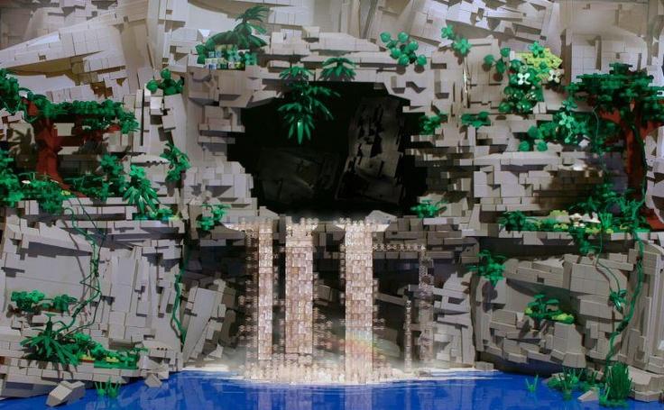 Lego Cave Waterfall Cool Lego Stuff Pinterest Lego