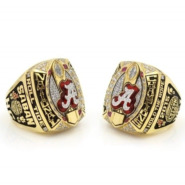 Custom 2015 Alabama Crimson Tide National Championship Ring Click Link in My Profile to Order #rolltide #alabama #sec #lsu #fsu #cfb #vfl #ugafootball #gbo #cfpbound #govols #vol
