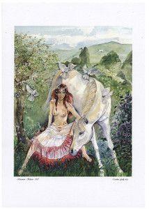 Rhiannon A4 Print by Caroline Lir