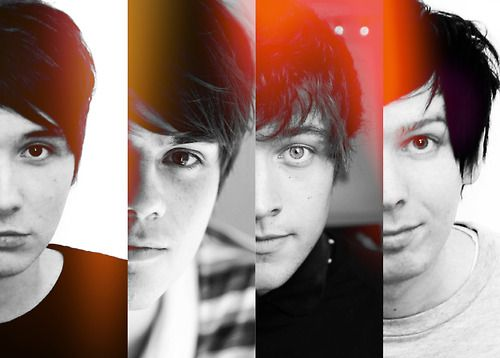 From left to right: Dan Howell (Danisnotonfire), Chris Kendell (crabstickz), PJ Liguori (KickthePj) and Phil Lester (AmazingPhil)