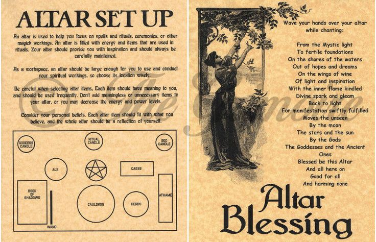 Details about ALTAR SET UP & BLESSING, Book of Shadows Pages