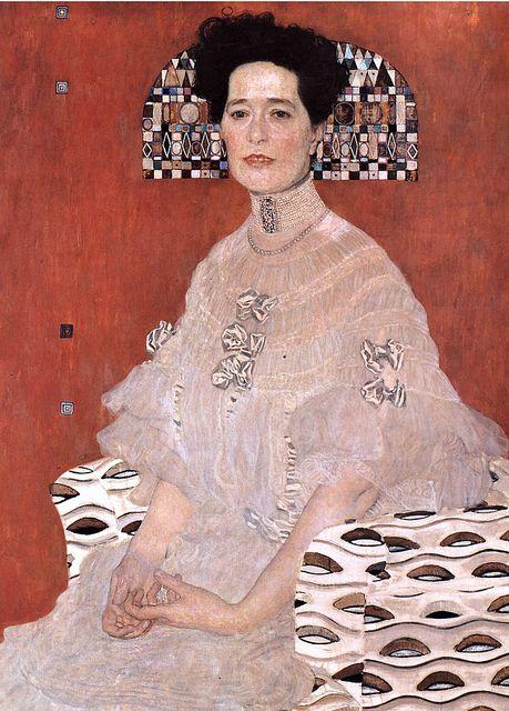 #GustavKlimt: Fritza Riedler (detail) Oil painting. 1906. #malerei #painting