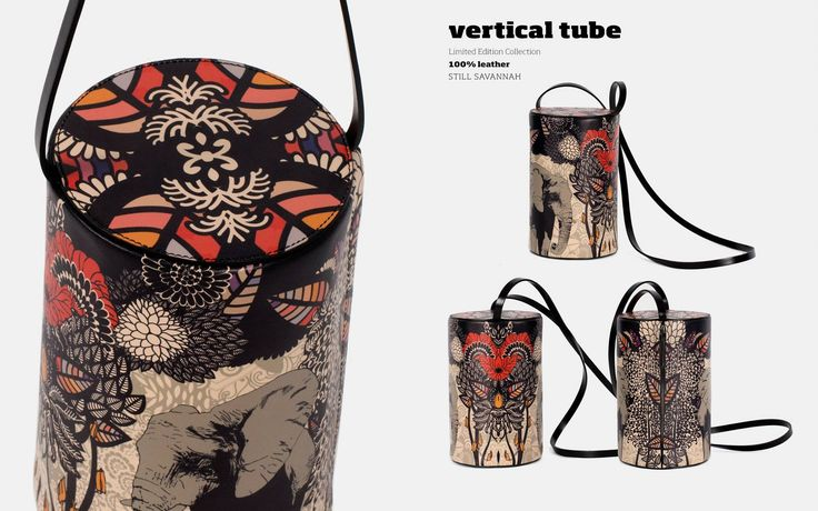 Beat the heat in this chic summer! #WearableArt #PrintedLeatherBags