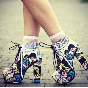 Komiksowe buty