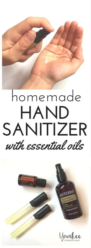 Easy Homemade Hand Sanitizer with Essential Oils | Yankee Homestead