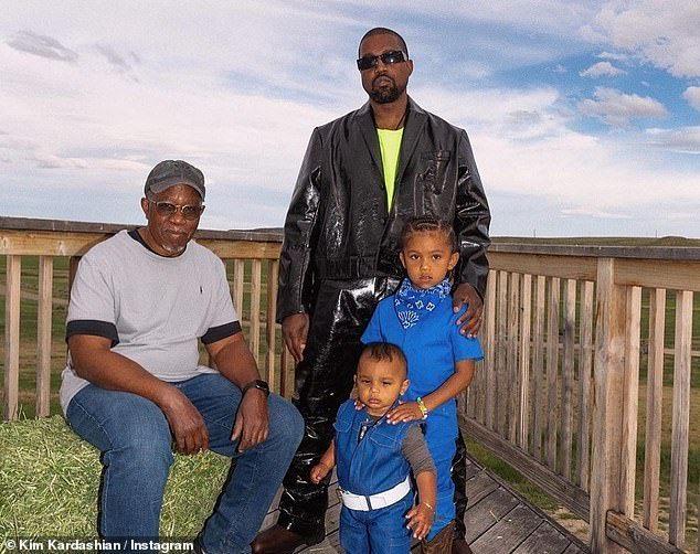 Kim Kardashian Sends Father S Day Love To Kanye Caitlyn And Late Dad In 2020 Fathers Day Photo Kim Kardashian Jenner Kids