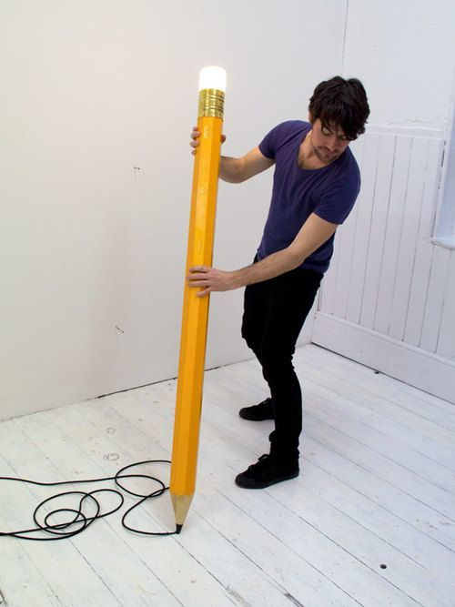 giant pencil lamp