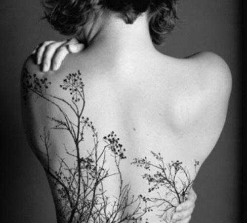 tree tattoo, branches, back tattoo