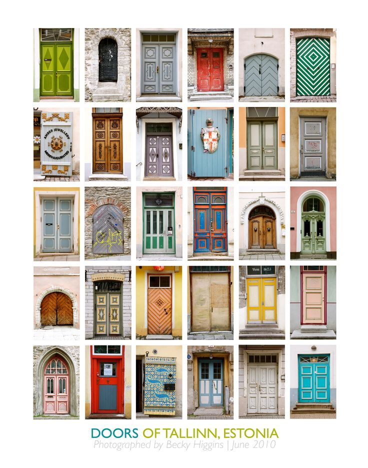 My dad is an architect.  Growing up, we had a poster similar to this in our home office (European doors).  I LOVED studying the details of the doors and dreaming about the people who passed over each threshold.