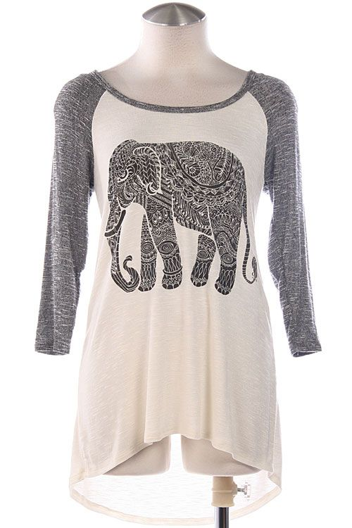 Tribal Elephant Top