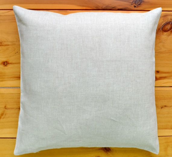 Pure Linen Euro Pillow Cushion Cover 18 by EcolivingCollection