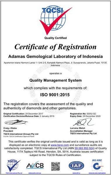 The First ISO Certified Gemological Laboratory in Indonesia