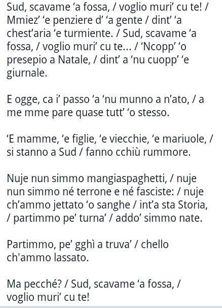 """""""Sud voglio morire con te"""" inedito di Pino Daniele"""