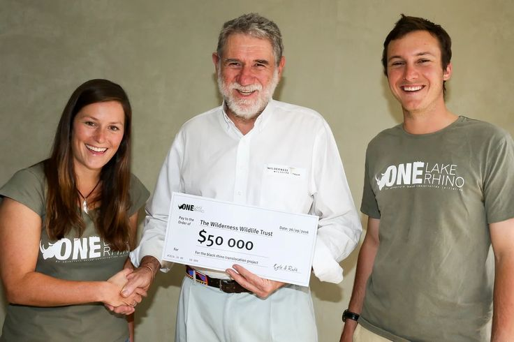 Photo: #OneLakeOneRhino's Ruth Nussbaum & Kyle de Nobrega (both accomplished photographers in their own right) popped in to our Johannesburg offices to hand over a cheque for R50,000 which they've raised for our Wilderness Wildlife Trust's rhino conservation! You guys! ♥ ♥  See their campaign here https://www.indiegogo.com/projects/one-lake-one-rhino-africa#/