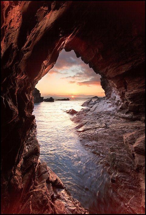 Sea Cave, Mewstone, England