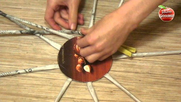 DIY How to Make a Basket from Recycled Newspaper - Handmade Basket Made ...
