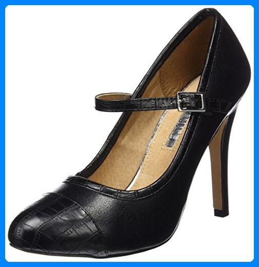 MARIA MARE Damen Basic Calzado Señora Geschlossene Schuhe mit Absatz, Schwarz (Croco Negro / Bombeado Negro), 39 EU - Damen pumps (*Partner-Link)