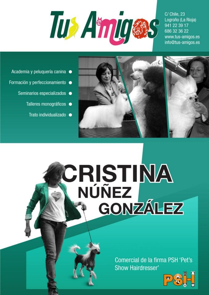 Grooming School Tus Amigos.  Cristina Nuñez   Logroño - La Rioja  941 223 917 - 686 323 622