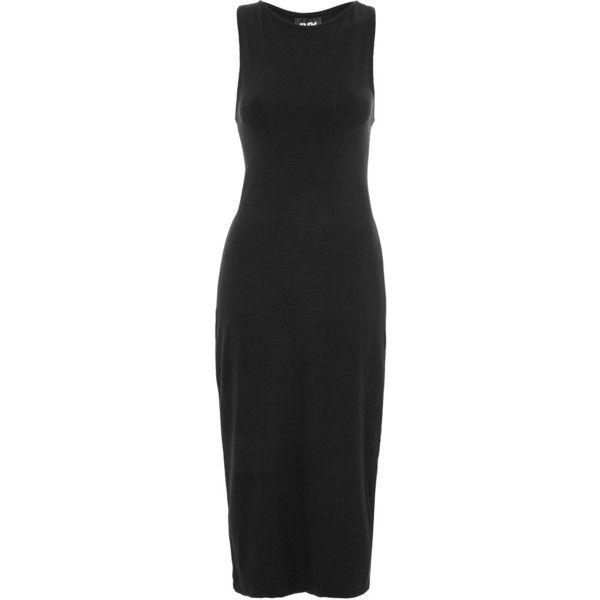 Logo Branded Bodyon Dress by Ivy Park ($49) ❤ liked on Polyvore featuring dresses, viscose dresses, rayon dress, fitted bodycon dress, body con dress and ivy park