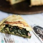 Erbazzone (Savory Spinach and Mushroom Pie) #recipe on the #blog today