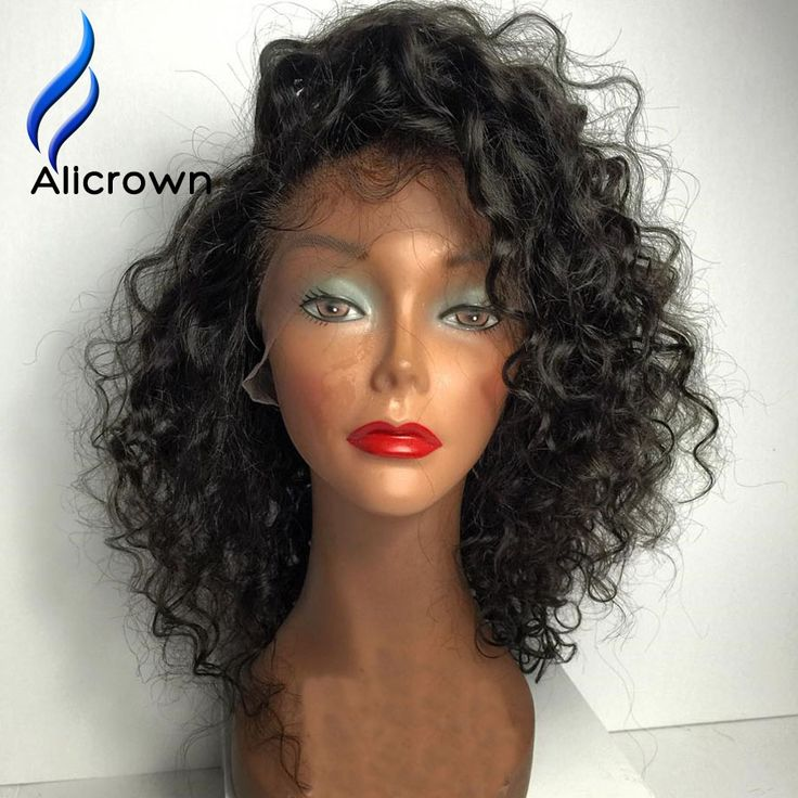Find More Human Wigs Information about 10a Brazilian Curly Full Lace Wigs Short…
