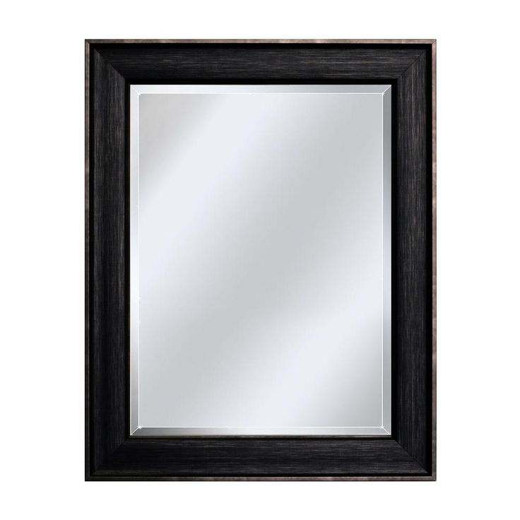 Deco Mirror In. Framed Wall Mirror In Brushed Platinum, Brush Platinum