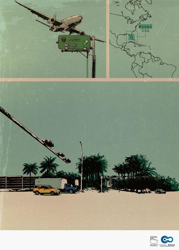 #illustration #comic #miami #vintage