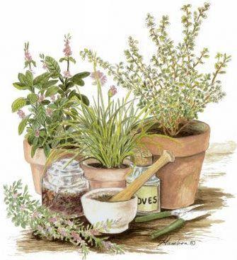 vintage garden decoupage