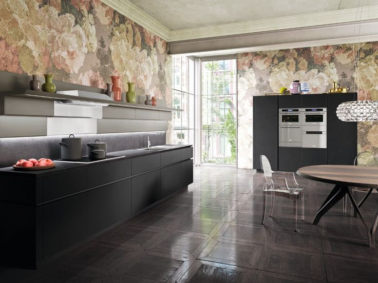 Ideal Lackierte Zeilen K che ohne Griffe IDEA by Snaidero Design Pininfarina