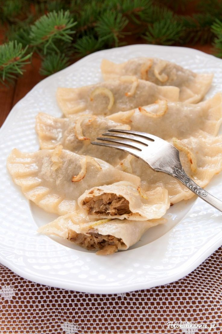 Cabbage and Mushroom Dumplings (Polish Pierogi) - Traditional Polish Christmas Dish.