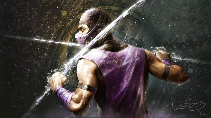 RAIN - Mortal Kombat fan art by fear-sAs.deviantart.com. I love that they decided to create/include a water ninja in the game series. And that he wears purple.