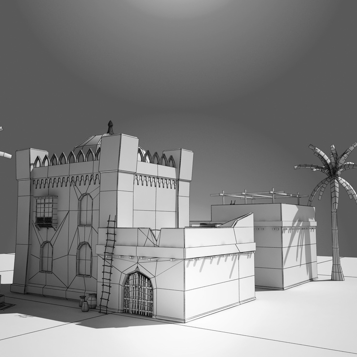 Arab Old Home 3d max Vray