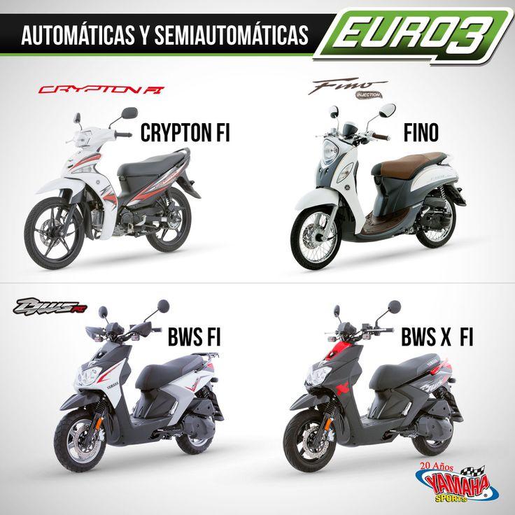 Estas son nuestras líneas Scooter con #Euro3, garantizadas con una emisión más amigable para el medio ambiente