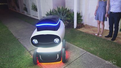 The future is here! Domino's Pizza has developed an autonomous pizza delivery robot in Australia