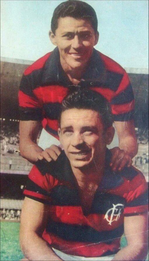 Dequinha e Babá - 1961 - dois grandes craques que fizeram história com a camisa do Flamengo