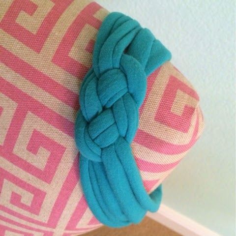 The Blonde Side: DIY Jersey Sailor Knot Headband