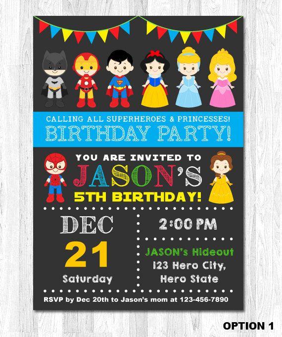 The 25 best princess birthday invitations ideas on pinterest superhero and princess invitation superhero and princess birthday invitation superhero princess party stopboris Gallery