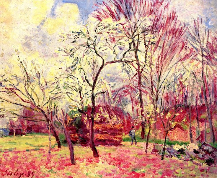 "terminusantequem: "" Alfred Sisley (French,1839-1899), The First Day of Spring, 1889 """
