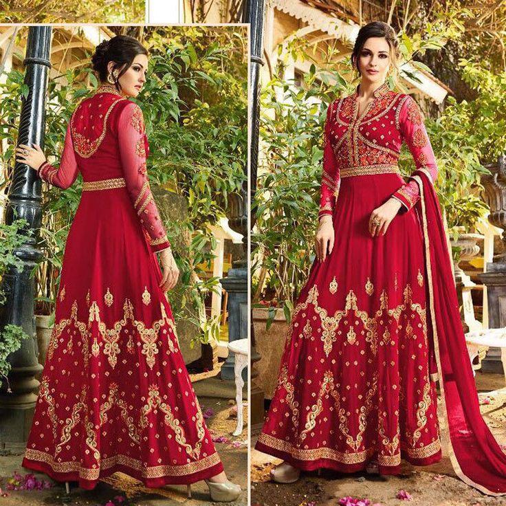 Party Wear Gown For Womens Pakistani Anarkali Indian Bollywood Salwar Suit Dress #Shoppingover #SalwarKameez