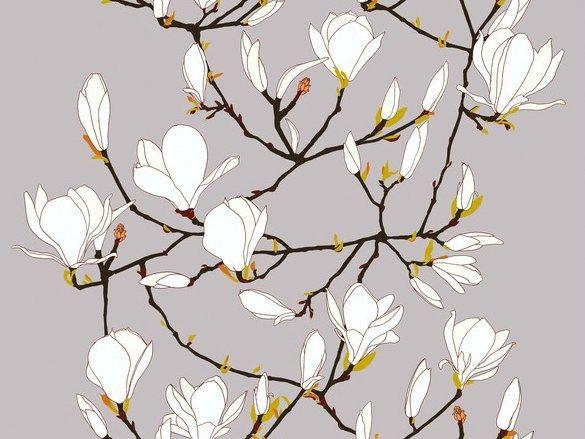 Tessuto in cotone con motivi floreali KEISARINNA by Marimekko