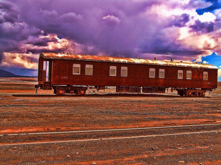 Vagón Abandonado en Tolar Grande - Salta - Argentina