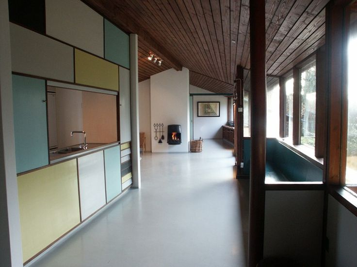 Private home of Danish architect couple Karen Mundt Clemmensen (1917-2001) and Ebbe Thejll Clemmensen (1917-2003) in Gentofte , Denmark. Designed and built in 1953. © Photo by: Jørgen Jørgensen