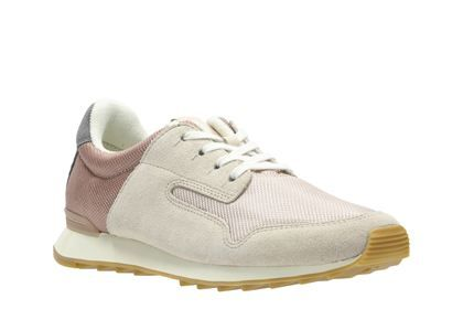 Clarks Floura Mix, Nude Pink Combi, Womens Sports Shoes